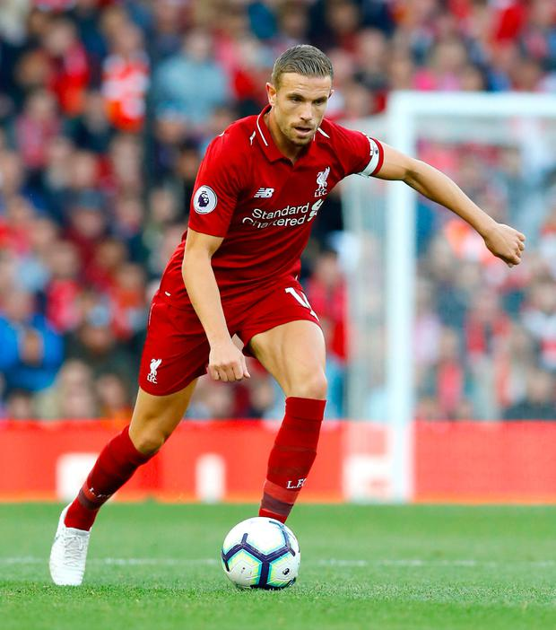 RETURN: Jordan Henderson is back for Liverpool as they seeks a win over Fulham
