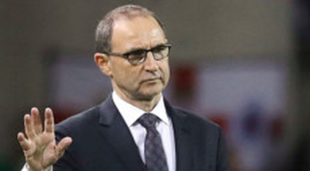 Ireland manager Martin O'Neill, pictured at last night's friendly clash with Northern Ireland