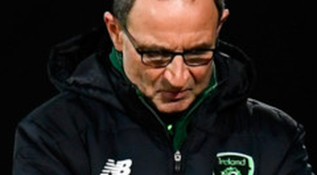 Ireland manager Martin O'Neill during Monday's match against Denmark