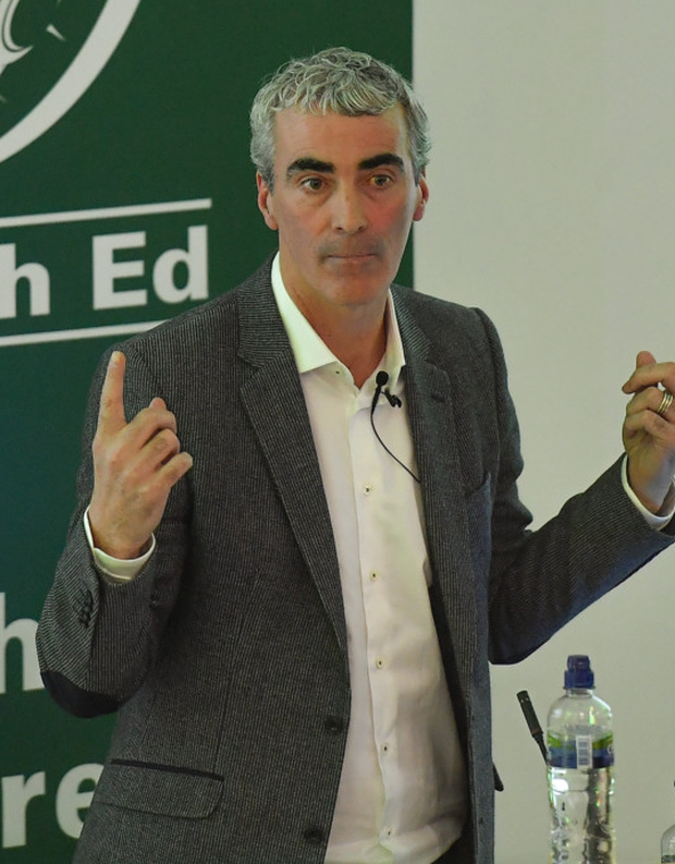 Jim McGuinness speaking during the recent 2018 FAI Coach Education Conference