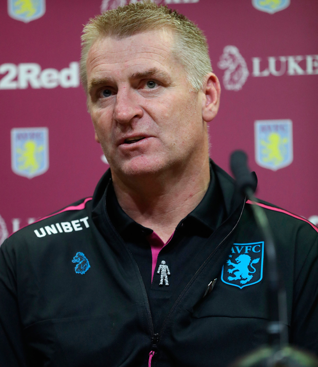 Aston Villa boss Dean Smith