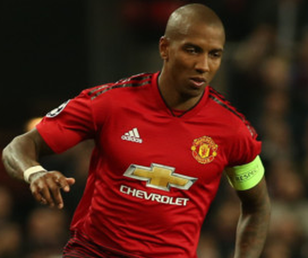 DERBY DATE: Manchester United captain Ashley Young
