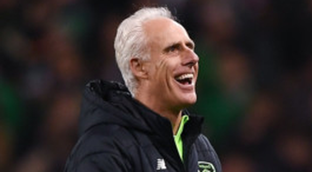 LOOKING ON THE BRIGHT SIDE: Ireland manager Mick McCarthy insists winning matches is his primary concern