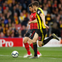 QUICK ON THE DRAW: Shane Long scores for Southampton against Watford after less than eight seconds on Tuesday night