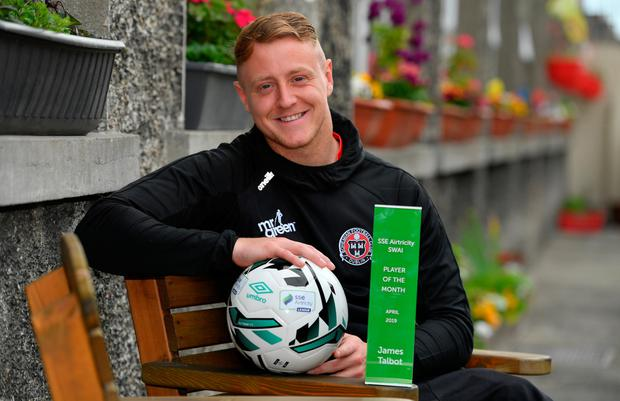 Airtricity/SWAI player of the month for April, Bohs keeper James Talbot
