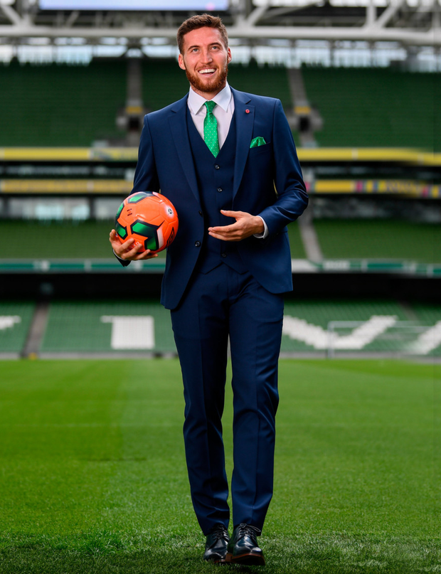 Republic of Ireland's Matt Doherty at the official launch of the new team suit for 2019 from sponsor Benetti Menswear at the Aviva Stadium