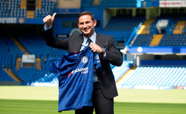 Frank Lampard is unveiled as Chelsea's new manager