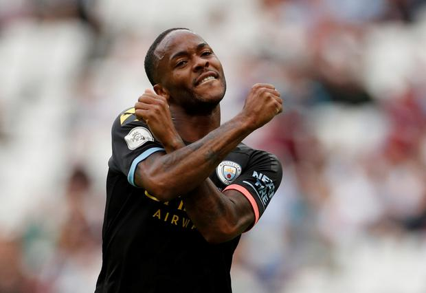 HAT-TRICK: Raheem Sterling. Pic: Reuters