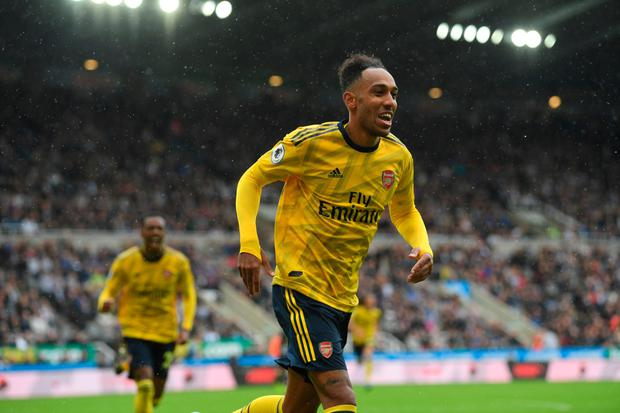 BACK OF THE NET: Pierre-Emerick Aubameyang. Pic: Getty