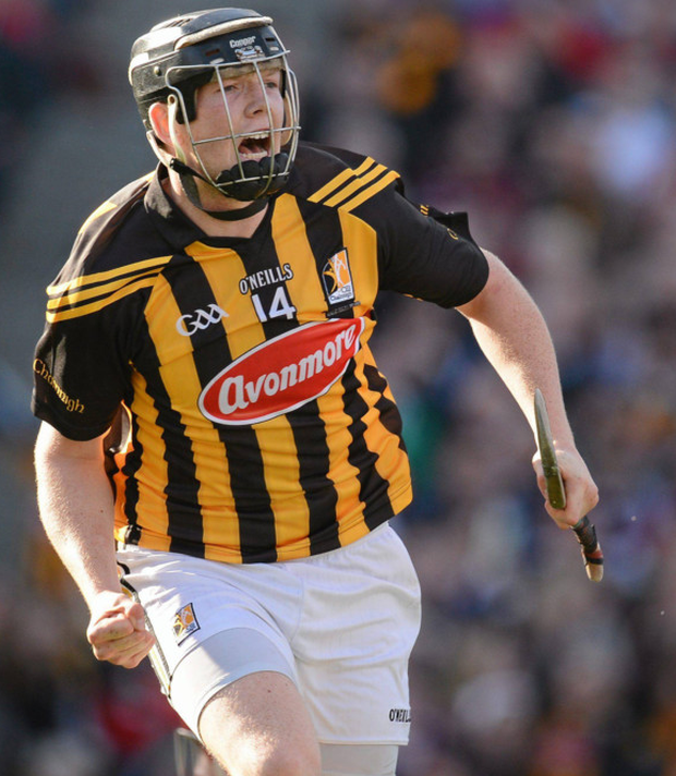 Debut boy: Walter Walsh celebrates scoring a goal in the 2012 All-Ireland final replay in his first senior start for Kilkenny