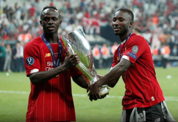 Sadio Mane and Naby Keita in Istanbul after their Super Cup success; Keita picked up a knock before the game preventing him from playing and putting pressure on the Liverpool squad