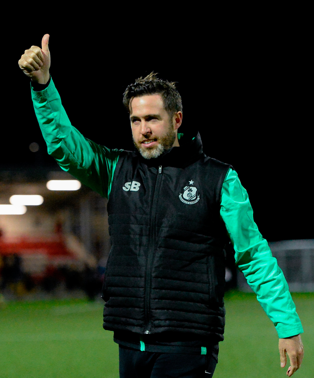 DETERMINED: Shamrock Rovers manager Stephen Bradley. Pic: Sportsfile