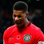 Manchester United's Marcus Rashford reacts after a missed chance against Brighton last Sunday