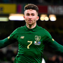 The Republic of Ireland's Sean Maguire celebrates scoring his side's second goal against New Zealand at the Aviva Stadium. Photo: Sportsfile