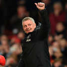THUMBS UP: Ole Gunnar Solskjaer has eased the pressure on his position but his side face Man City tomorrow