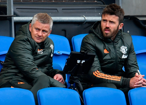 Manchester United boss Ole Gunnar Solskjaer, with Michael Carrick (right), needs to turn his team's fortunes around or he may face the sack