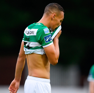 Shamrock Rovers' Graham Burke after the 0-0 draw against St Patrick's Athletic