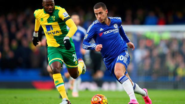Chelsea playmaker Eden Hazard is set to return for tomorrow's clash at Arsenal Photo:Getty