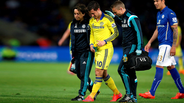 A picture from last season show Chelsea team doctor Eva Carneiro escorting Eden Hazard off the field