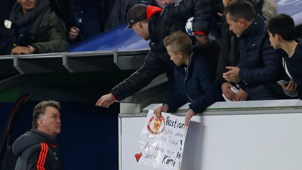 Manchester United manager Louis van Gaal faces the wrath from fans after last Tuesday night's Champions League defeat to Wolfsburg