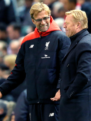 Liverpool boss Jurgen Klopp and Southampton manager Ronald Koeman will pit their wits against each other again in tonight's League Cup quarter-final clash at St Mary's