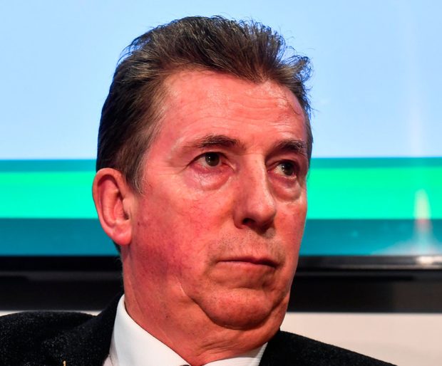 TOP TABLE: FAI Board Member John Earley, Chairman of the Underage Committee, at FAI HQ in Abbotstown, who will be the only board member left from the John Delaney era when David Conway steps down