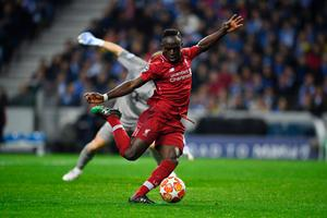 Liverpool striker Sadio Mane, pictured here in action against Porto in midweek, has been in blistering form of late