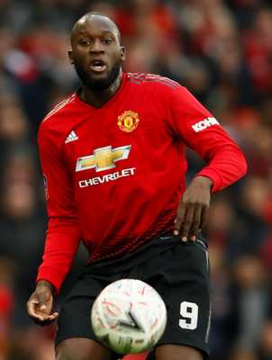 INJURY FEAR: Romelu Lukaku could miss Man United's FA Cup tie at Wolves today with a foot problem