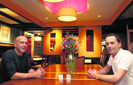 Twin approach: Chef Gerard Reidy (left) pictured with his twin brother, John. Photo by John Reidy