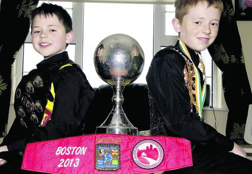 World dancing champion, Seán Slemon (left) pictured with his brother, Aaron. Photo: John Reidy