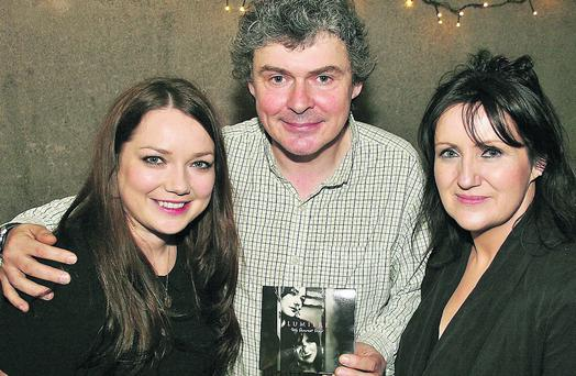 From left, Pauline Scanlon, John Spillane and Eilis Kennedy at the launch of Lumiere's 'My Dearest Dear'. Photo by Marian O'Flaherty