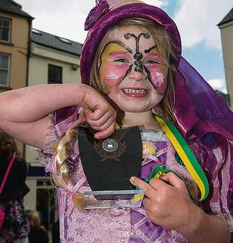 Nicole Hartman at the Fancy Dress parade in the Square on Saturday as part of the Feile na mBlath festivities.