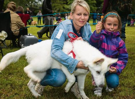 Barbara and Amelia Mol, Fairway Heights with Miley at the Tralee Flower And Garden Festival Dog Show on Saturday.