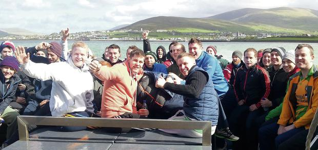 Some of the 2014 Rose of Tralee escorts during their recent bootcamp in Dingle.