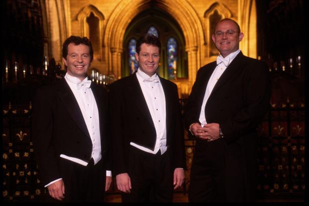The Irish Tenors including Finbar Wright (left)
