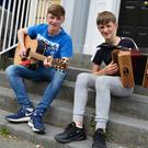 Daragh (left) and his younger brother Conor pictured last Friday morning as they chatted to The Kerryman about the next big stage in their musical journeys. Photo by Fergus Dennehy