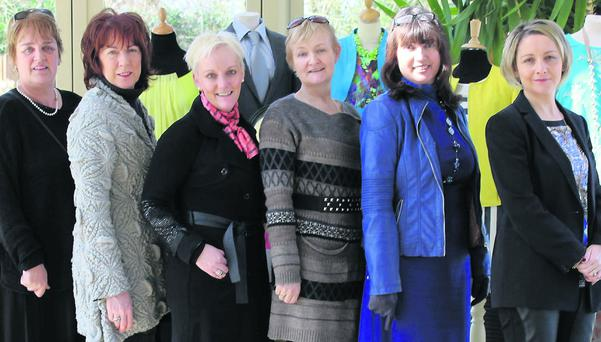 Carmel Prenderville, Fashion World/Joi Boutique, Mary Shanahan, La Femme; Jill Hannon, Hannons of Castleisland; Breda Galwey, Hats-a-Head; Grace O Connor, In Style and Lisa Geaney, Crag Cave. Photo: Orla Diffley
