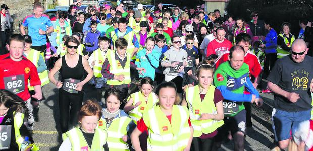 Off to a flying start in Friday evening's fun run for Derryquay National School.