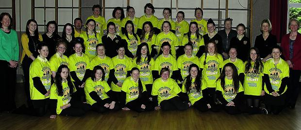 n Students from Presentation Secondary School Listowel pictured on Friday morning last as they made the final plans for their participation for the Darkness Into Light Walk which took place in Killarney at 4am on Saturday morning.