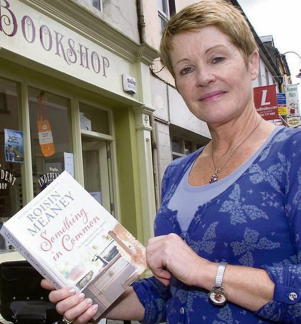 Roisin Meaney pictured with her book, 'Something in Common'. Photo by John Reidy