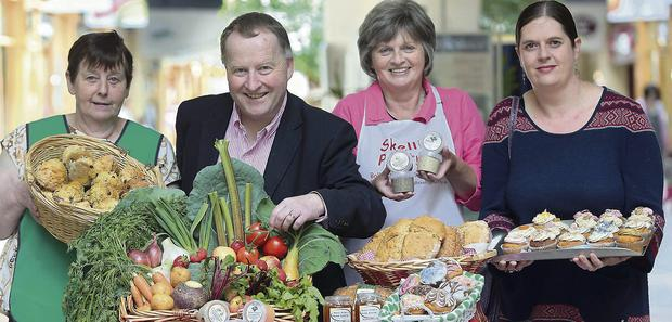 All natural . . . members of the Killarney Natural Food Market at The Killarney Outlet Centre (including) Mary Rose Doherty, Home Baking, Paul Sherry, manager of sponsor the Killarney Outlet Centre, Ann Perry, Skellig Pantry, and Sarah O'Brien, market co-ordinator. The Natural Food Market at the Killarney Outlet Centre runs every Friday from 12noon-5pm. Photo by Valerie O'Sullivan