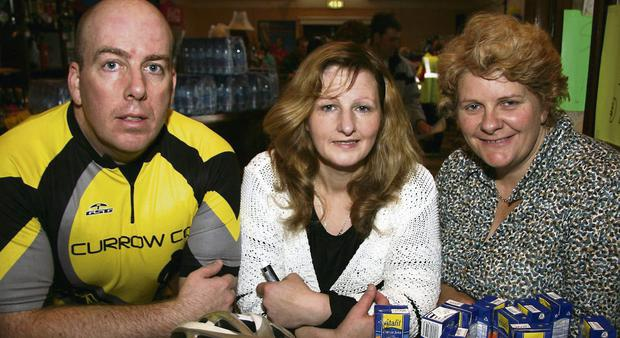 Tom Kenny, Currow CC secretary, with Helen Barrett, Scartaglin, and Marcella Finn, nurse/manager at Castleisland Day Care Centre.