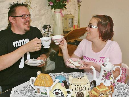 Roy Sheridan and Lorna Holderied who have just opened a new business, Pie Café and Tea Rooms, in Dick Mack's Courtyard.