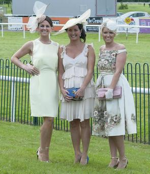 Ciara Hegarty, Aisling Fitzgerald and Christine Hegarty from Killarney at Ladies Day at the recent Killarney Races
