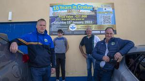 Pictured : Alan Doran, Tony Doran , Jerry Foran and James Keane of St Senan's GAA in Mountcoal. (087)9895509 The club will have a draw for two premium seats in Croker for ten years. Photo By : Domnick Walsh © Eye Focus LTD . Domnick Walsh Photographer is an Irish Aviation Authority ( IAA ) approved Quadcopter Pilot. Tralee Co Kerry Ireland. Mobile Phone : 00 353 87 26 72 033 Land Line : 00 353 66 71 22 981 E/Mail : info@dwalshphoto.ie Web Site : www.dwalshphoto.ie ALL IMAGES ARE COVERED BY COPYRIGHT ©