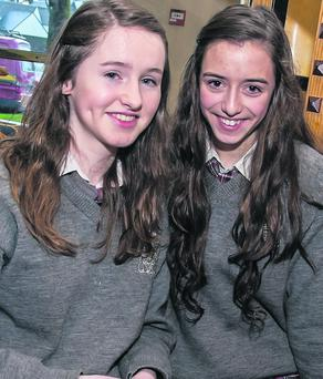 Intermediate School Killorglin students Aoife Broderick and Tríona Brennan