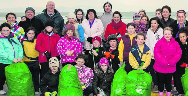 Ballyheigue locals on a Tidy Towns clean-up on Good Friday - next weekend everybody can get involved in the County Clean-up Day.