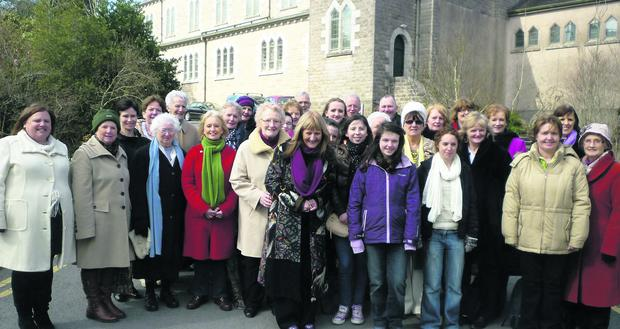 Members of the Castleisland Parish Choir at Glenstall Abbey on their Good Friday visit. Photo: Betty McAuliffe