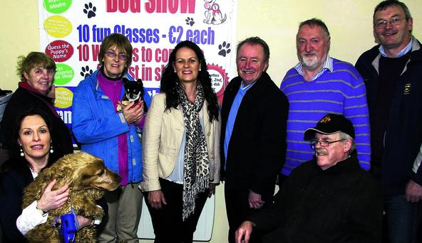 Members of the Abbeyfeale Town Park Committee preparing for Sunday's 'all weather' dog show at their headquarters.
