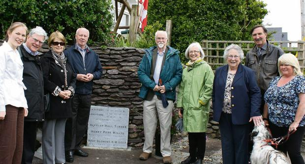 On Sunday, June 2, the Canadian Ambassador visited the site in Waterville; pictured are, from left: Amy Rudd, Ruary Rudd, Mrs Hearn, Ambassador Hearn, Brian Chatterton, Anne McIntyre, Dorothy Rudd, Tony Donnelly and Lorna Dunn.